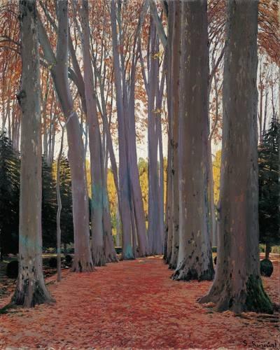 quadros-de-paisagens - Quadro -Avenue of Plane Trees, 1916- - Rusiñol, Santiago