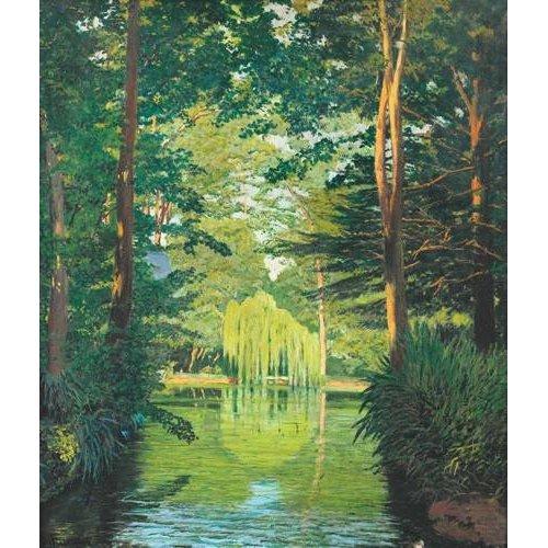 Quadro -Paisaje en un lago-