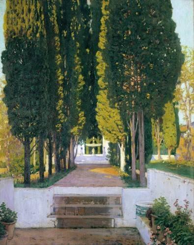 quadros-de-paisagens - Quadro -Jardines del Generalife- - Rusiñol, Santiago