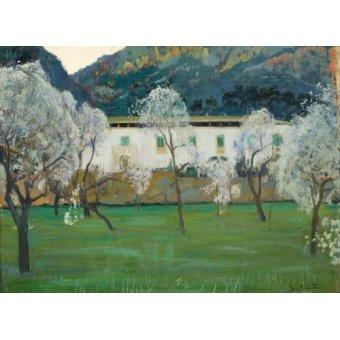 - Quadro -La Granja Blanca en Bunyola, Majorca, 1902- - Rusiñol, Santiago