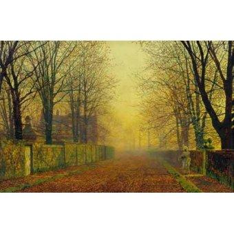 - Quadro -Evening_Glow, 1888- - Grimshaw, John Atkinson