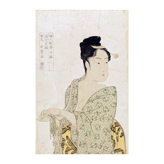 imagens étnicas e leste - Quadro -Ten physiognomic types of women, Coquettish type-