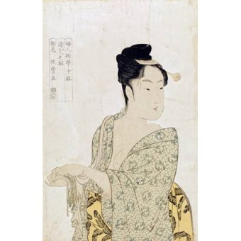 quadros étnicos e orientais - Quadro -Ten physiognomic types of women, Coquettish type- - Utamaro, Kitagawa