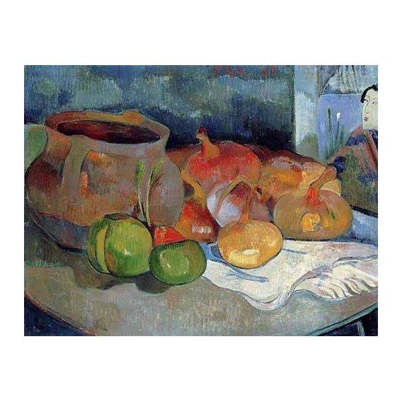 cuadros decorativos - Cuadro -Bodegón con cebollas y remolacha-