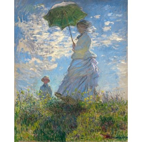Quadro -Woman with a Parasol - Madame Monet and Her Son, 1875-