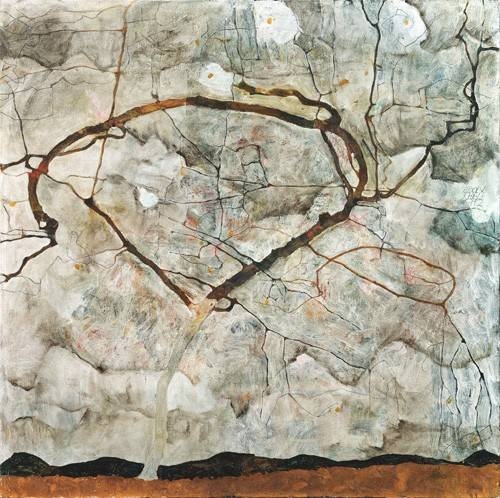 quadros-abstratos - Quadro -Autumn Tree in Stirred Air (Winter Tree), 1912- - Schiele, Egon