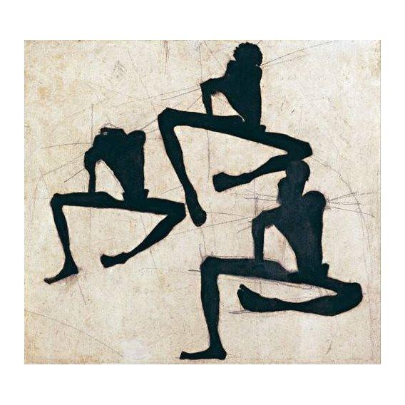 pinturas abstratas - Quadro -Abstracto _ Composition with Three Male Nudes, 1910-