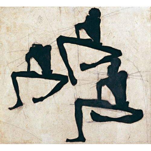 Quadro -Abstrato _ Composição com três figuras masculinas nuas, 1910-
