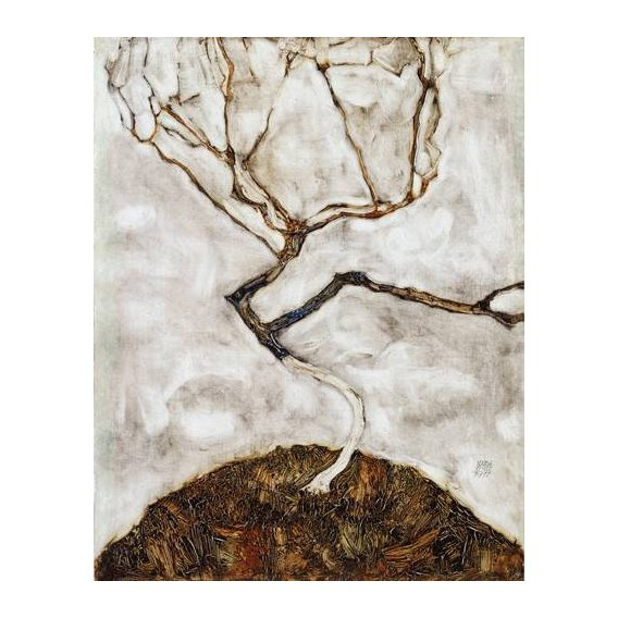 pinturas abstratas - Quadro -Small Tree in Late Autumn, 1911-