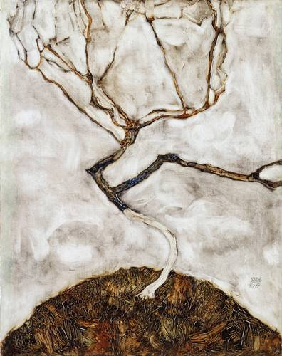 quadros-abstratos - Quadro -Small Tree in Late Autumn, 1911- - Schiele, Egon