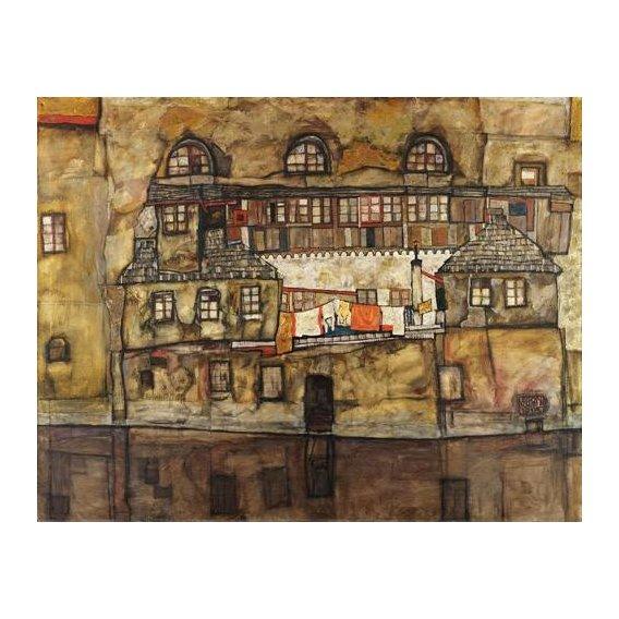 pinturas de paisagens - Quadro -House Wall on the River, 1915-