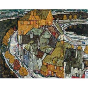 - Quadro -Crescent of Houses II (Island Town), 1915- - Schiele, Egon