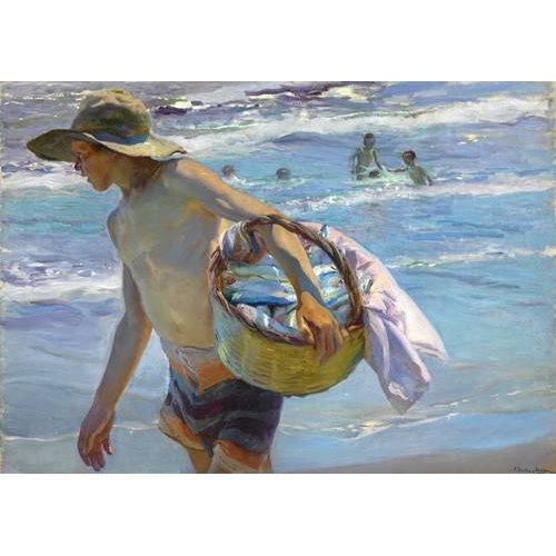 pinturas do retrato - Quadro -El pescador-