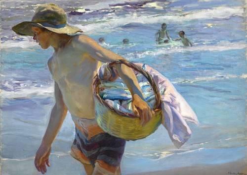 pinturas-de-retratos - Quadro -El pescador- - Sorolla, Joaquin