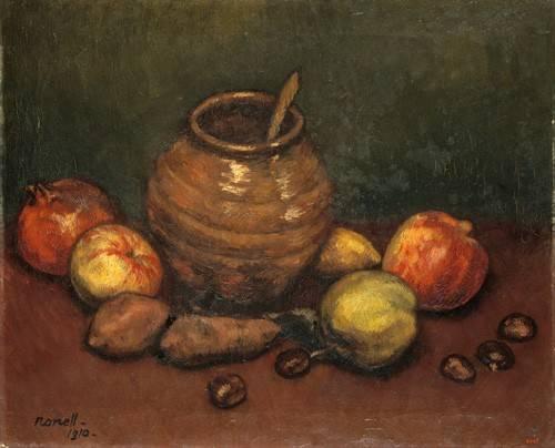 naturezas-mortas - Quadro -Still Life, 1910- - Nonell y Monturiol, Isidre