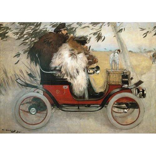 Quadro -Ramon Casas y Pere Romeu en automovil, 1901-