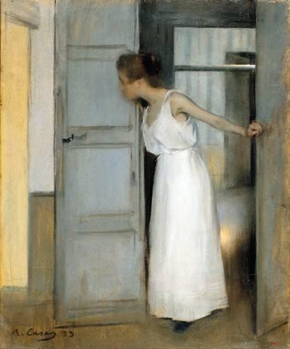 pinturas-de-retratos - Quadro -Over My Dead Body, 1893- - Casas i Carbó, Ramón