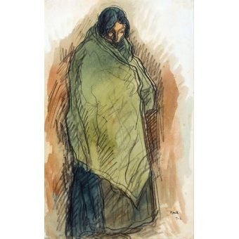- Quadro -Gypsy Standing, 1906- - Nonell y Monturiol, Isidre