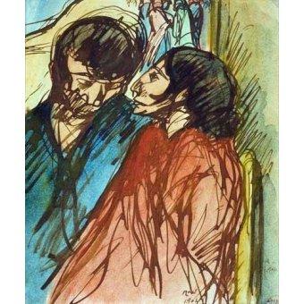 - Quadro -Gypsy Couple, 1904- - Nonell y Monturiol, Isidre