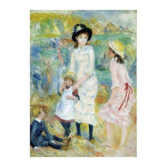 pinturas do retrato - Quadro -Children on the Seashore, Guernsey, 1883-
