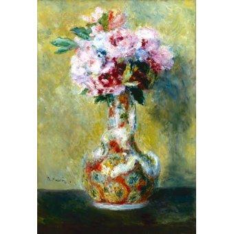 quadros de flores - Quadro -Bouquet in a Vase- - Renoir, Pierre Auguste