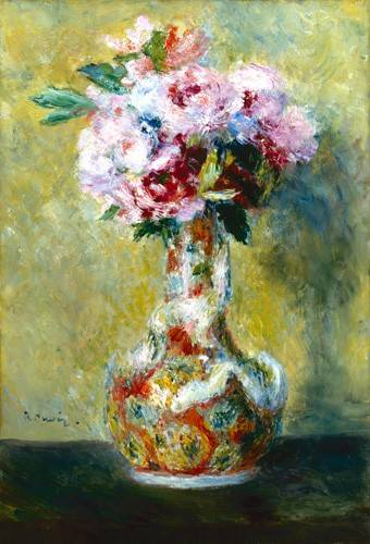 quadros-de-flores - Quadro -Bouquet in a Vase- - Renoir, Pierre Auguste