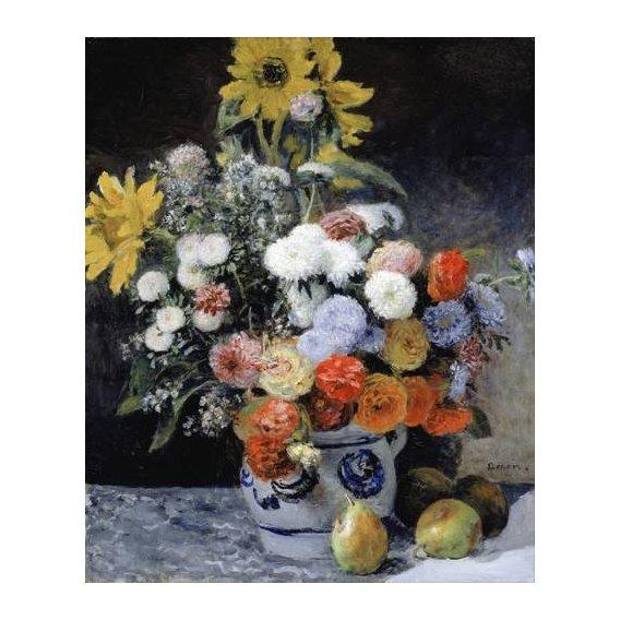 imagens de flores - Quadro -Mixed Flowers in an Earthenware Pot, 1869-