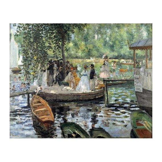 pinturas de paisagens - Quadro -La Grenouillère, 1869-