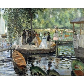 - Quadro -La Grenouillère, 1869- - Renoir, Pierre Auguste