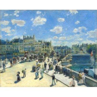 - Quadro -Pont Neuf, Paris, 1872- - Renoir, Pierre Auguste