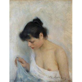 quadros nu artistico - Quadro -Study, 1893- - Casas i Carbó, Ramón