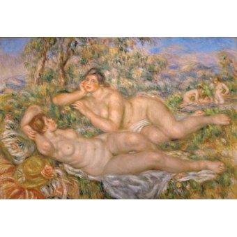quadros nu artistico - Quadro -Bathing Women- - Renoir, Pierre Auguste
