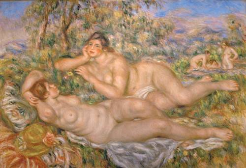 quadros-nu-artistico - Quadro -Bathing Women- - Renoir, Pierre Auguste