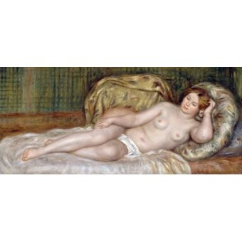 quadros nu artistico - Quadro -Large Nude, 1907- - Renoir, Pierre Auguste