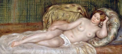 quadros-nu-artistico - Quadro -Large Nude, 1907- - Renoir, Pierre Auguste
