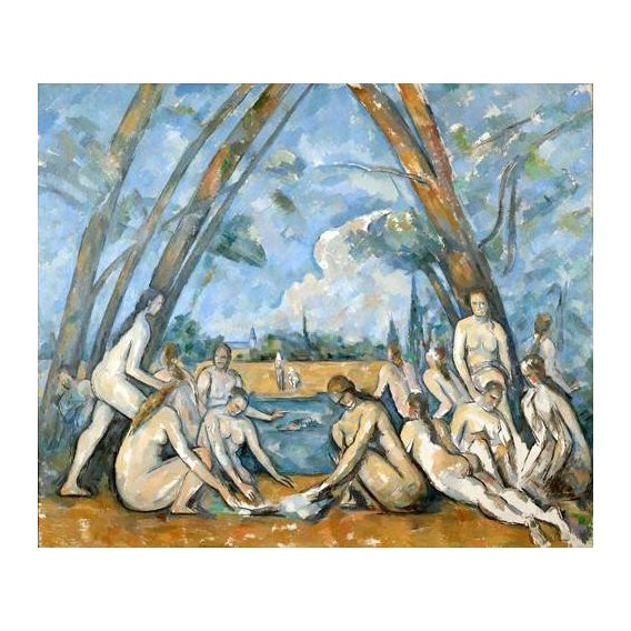 pinturas do retrato - Quadro -The Large Bathers, 1906-