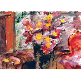 flowers - Picture -Flower Vase on a Table- - Corinth, Lovis