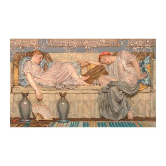 pinturas do retrato - Quadro -Beads_(study), 1875-