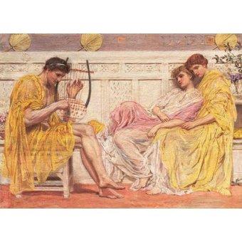 pinturas de retratos - Quadro -A Musician- - Moore, Albert Joseph