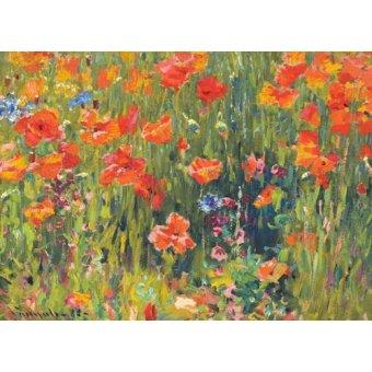 quadros de flores - Quadro -Amapolas, 1888- - Vonnoh, Robert William