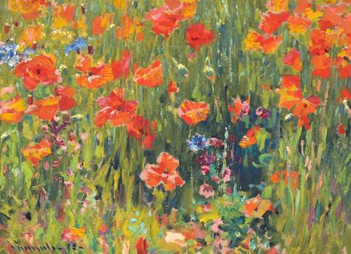quadros-de-flores - Quadro -Amapolas, 1888- - Vonnoh, Robert William