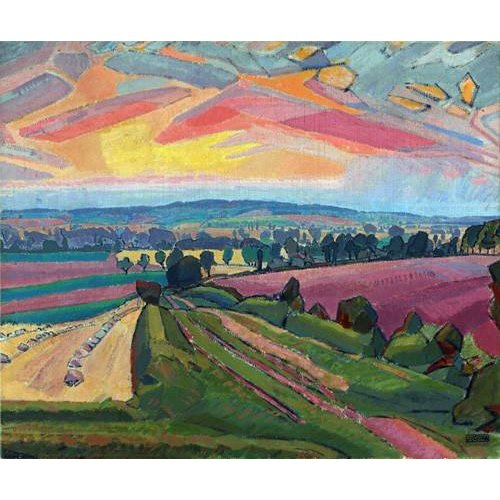 pinturas de paisagens - Quadro -The Icknield Way-