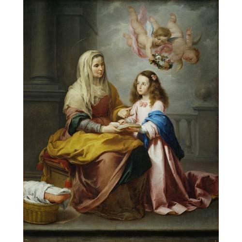 imagens religiosas - Quadro -Santa Ana y la Virgen, 1655-