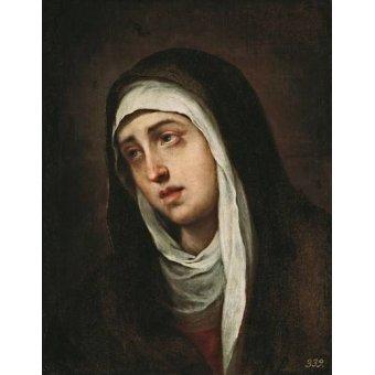 quadros religiosos - Quadro -La Dolorosa, 1660-70- - Murillo, Bartolome Esteban