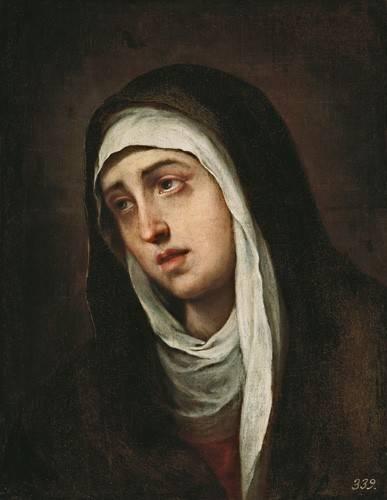 quadros-religiosos - Quadro -La Dolorosa, 1660-70- - Murillo, Bartolome Esteban