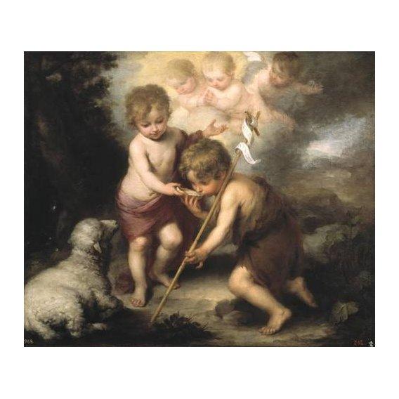 imagens religiosas - Quadro -Los niños de la concha-