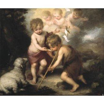 quadros religiosos - Quadro -Los niños de la concha- - Murillo, Bartolome Esteban