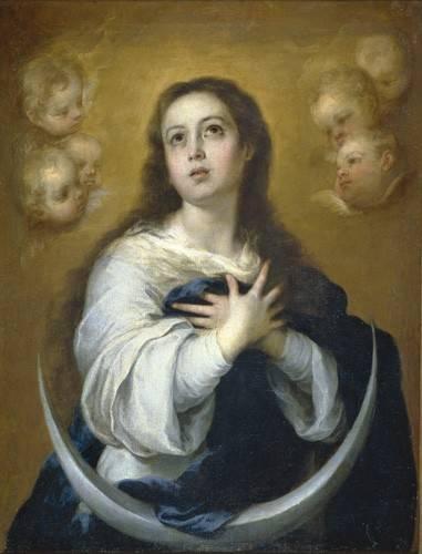 quadros-religiosos - Quadro -La Inmaculada Concepcion, 1662- - Murillo, Bartolome Esteban