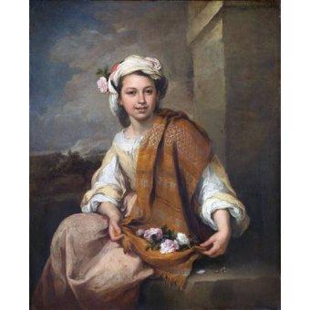 - Quadro -La Niña de las Flores, 1670- - Murillo, Bartolome Esteban