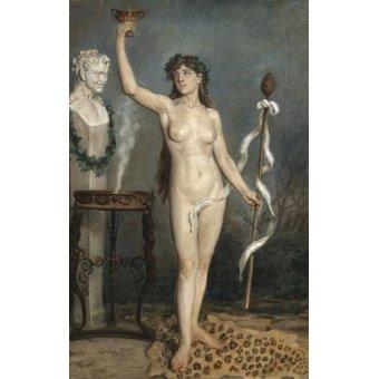 quadros nu artistico - Quadro -Modelo desnudo femenino- - Sorolla, Joaquin
